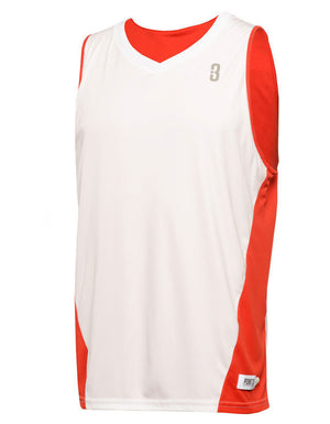 Reversible Game Unisex Basketball Jersey - Red/White Reverse Front