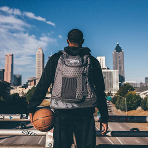 Road Trip Basketball Back Pack - Grey from Behind