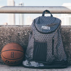 Road Trip Basketball Back Pack - Grey with Ball
