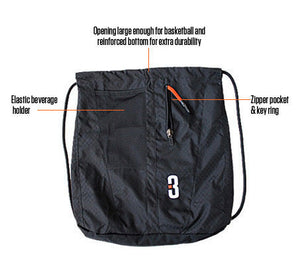 SAK LT - Lightweight Basketball Gear Bag Black - features