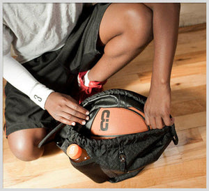 SAK LT - Lightweight Basketball Gear Bag Black - always bring your favorite basketball