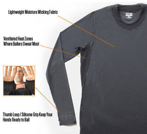 SHOOTAROUND - Long Sleeve Shooting Shirt Black/Black - description
