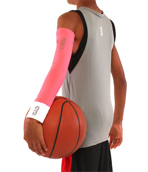 Youth Shooter LT Lightweight Compression Shooting Sleeve - Pink/White