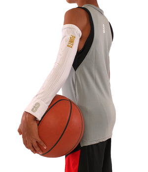 Youth The Chip/White Wood Shooter LT Youth Lightweight Compression Shooting Sleeve