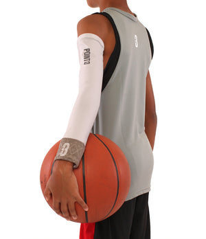 Youth Shooter LT Lightweight Compression Shooting Sleeve - White/Grey