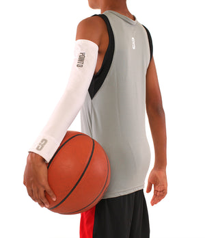Youth Shooter LT Lightweight Compression Shooting Sleeve - White