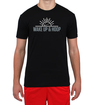 Wake Up & Hoop T-Shirt - Black