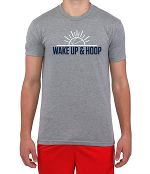 Wake Up & Hoop T-Shirt - Grey