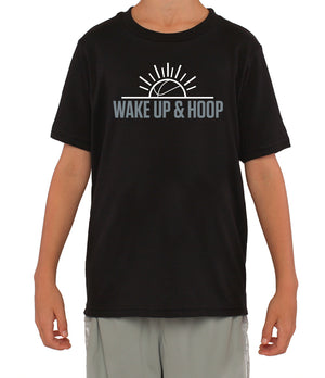 Youth Wake Up & Hoop T-Shirt - Black