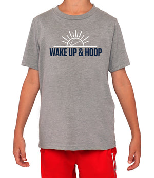 Youth Wake Up & Hoop T-Shirt - Grey