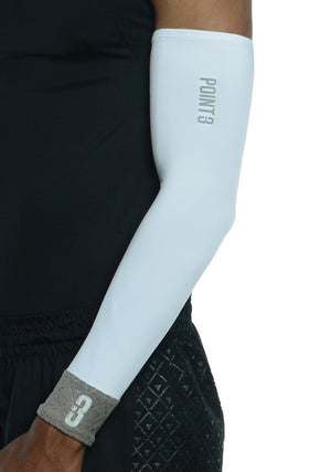 Shooter LT Unisex Lightweight Compression Shooting Sleeve - White/Grey