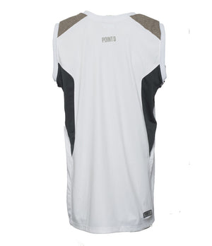 DRYV Uniform Mens Basketball Jersey - White/Grey Back