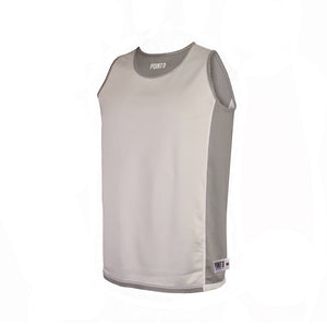 Dual Threat Single Layer Reversible Jersey - Grey Reverse
