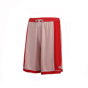 Youth Dual Threat Single Layer Reversible Shorts - Red/White Reverse