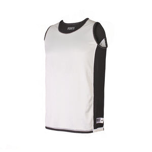 Youth Dual Threat Reversible Jersey - Black White Reverse Front