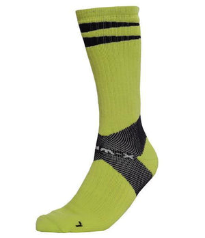 X-Wrap Unisex Performance Ba sketball Socks - Green Flash/Black
