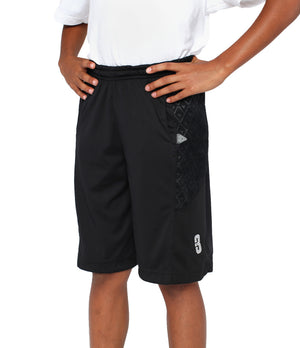 Youth DRYV Baller 2.0 Basketball Shorts - Triple Black - Side