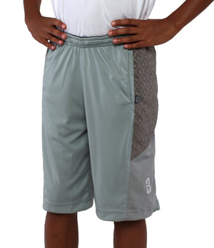 Youth DRYV Baller 2.0 Basketball Shorts - Triple Grey - Side