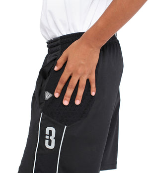 Youth DRYV Baller 3.0 Basketball Shorts - Black - Hand Wipe