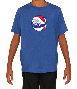 Youth Red, White & Ball Graphic T