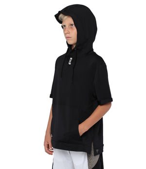 Youth Versa S/S Hoodie - Black - Side View