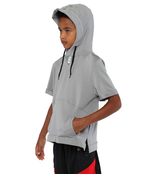 Youth Versa S/S Hoodie - Grey - Side View