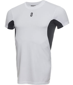YOUTH ISO - Short Sleeve Compression T-Shirt White/Grey