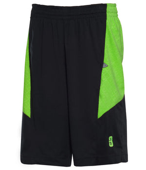 DRYV Uniform Mens Dry Hand Zone Basketball Shorts - Black/Green Flash