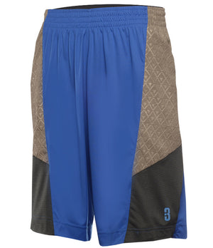 YOUTH DRYV® UNIFORM SHORTS Blue/Grey