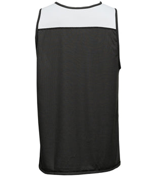 Reversible LT Unisex Lightweight Basketball Jersey Black/White Back