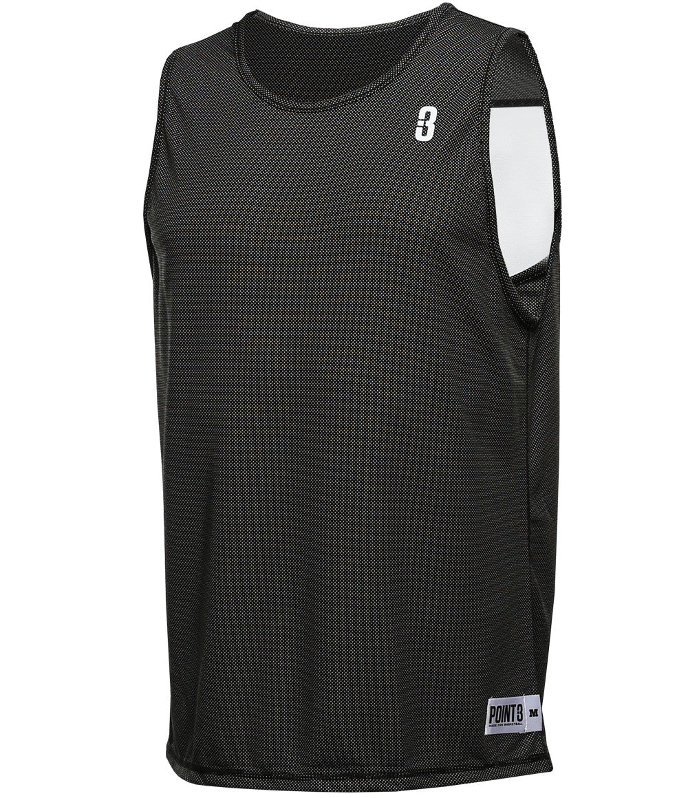 669ad44e80e Reversible LT Youth Lightweight Basketball Jersey Black/White Front