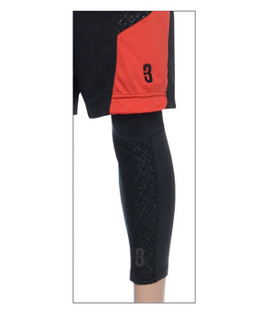 DRYV LT Compression Leg Sleeve - Black on leg with shorts