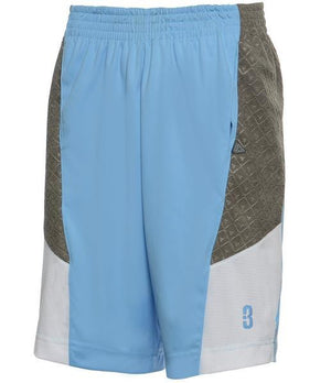 DRYV BALLER 2.0 Dry Hand Zone Basketball Shorts - Sky Blue/Grey
