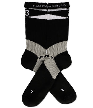 X-Wrap Basketball Socks Black/White - pair