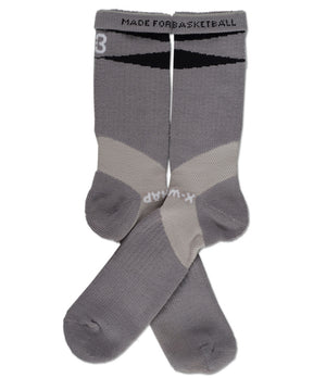 X-Wrap Basketball Socks Grey/Black - pair
