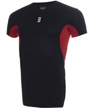 ISO - Short Sleeve Compression T-Shirt Black/Red