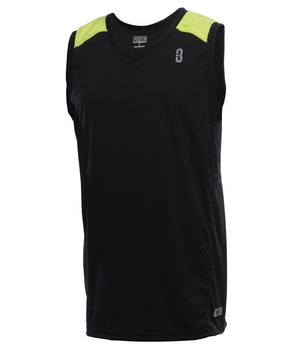 DRYV Uniform Mens Basketball Jersey - Black/Green Flash