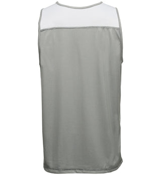 Reversible LT Unisex Lightweight Basketball Jersey Grey/White Back