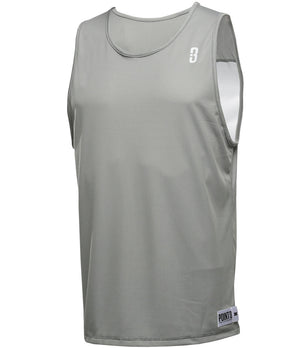 Reversible LT Unisex Lightweight Basketball Jersey Grey/White Front