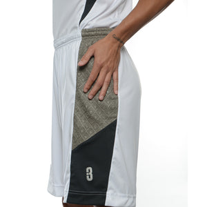 DRYV® WOMEN'S BASKETBALL SHORTS White/Grey - hand swipe