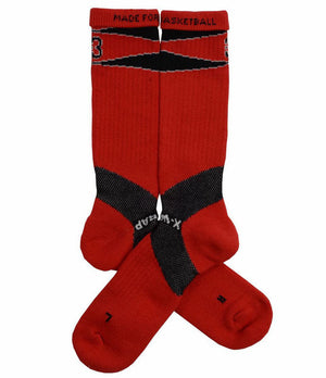 X-Wrap Basketball Socks Red/Black - pair