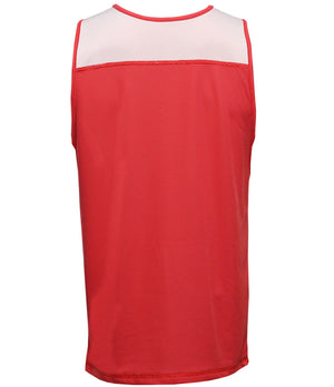 Reversible LT Unisex Lightweight Basketball Jersey Red/White Back
