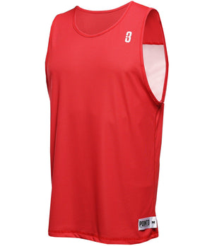 Reversible LT Unisex Lightweight Basketball Jersey Red/White Front