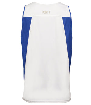 Reversible Game Unisex Basketball Jersey - Royal/White Back Reverse