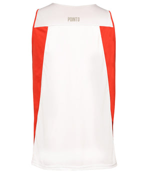 Reversible Game Unisex Basketball Jersey - Red/White Reverse Back
