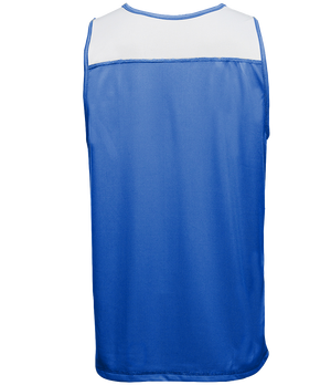 Reversible LT Unisex Lightweight Basketball Jersey - Royal/White Back