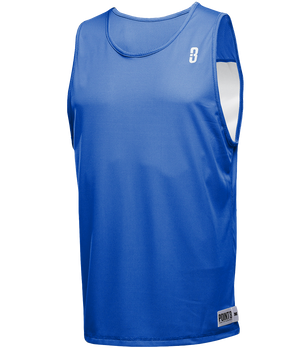 Reversible LT Unisex Lightweight Basketball Jersey - Royal/White Front