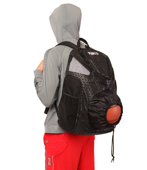 Road Trip 2.0 Basketball Backpack - Black - Side Angle