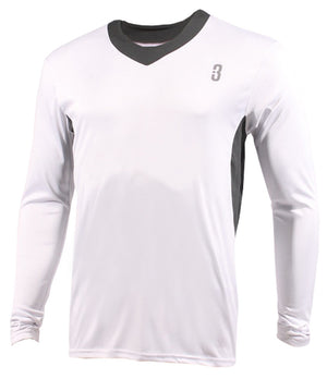 YOUTH SHOOTAROUND - Long Sleeve Shooting Shirt White/Grey