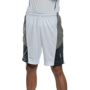 DRYV® WOMEN'S BASKETBALL SHORTS White/Grey - modeled